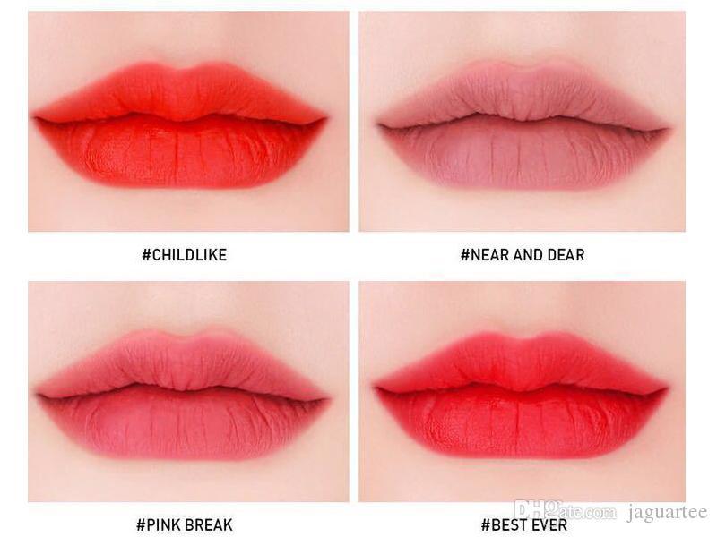 3CE Matte Lipstick Hottest Long Lasting Waterproof 3CE Velvet Lip Tint Matte Nude Lip Sticks DHL Free