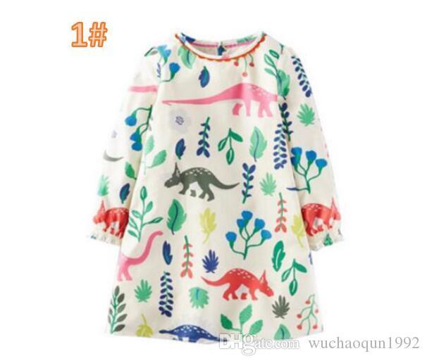 new product 4ff07 659a2 Acquista Vestito Da Principessa Con Tasche Animali Stampati Abito In  Maglina A Tunica 2018 Abbigliamento Estivo Bambini Bambina Coprispalle  Bambini ...