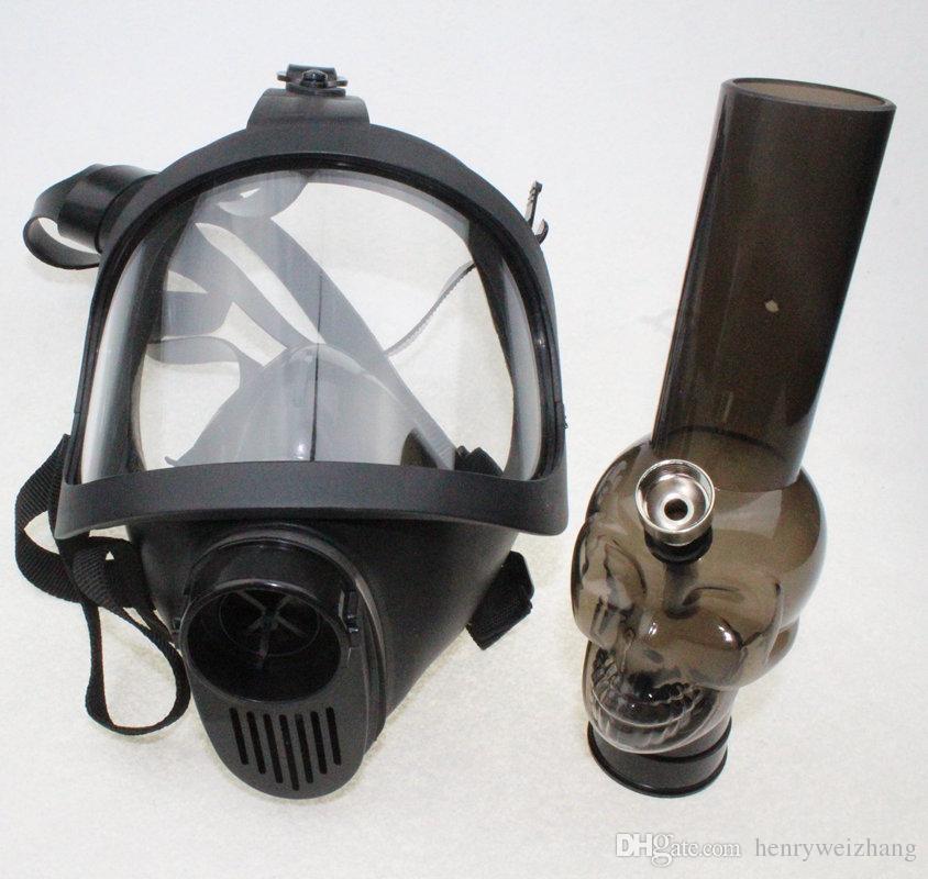 Gas Mask Bong NEW Arrivel Water Shisha Acrylic Smoking Pipe Sillicone Mask Hookah Tobacco Tubes Wholesale