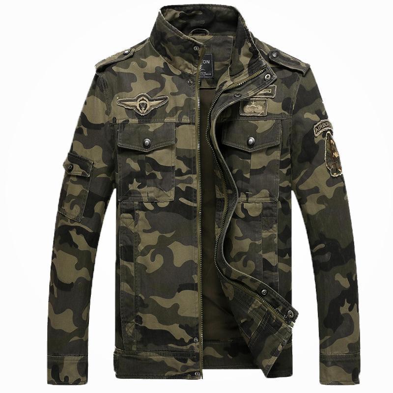 dd2fdbd17c403 Vestes tactiques uniformes de la Division aéroportée 101 Vêtements de  camouflage Hommes Spetsnaz Manteau de combat Armée Bombardier Vêtements de  ...