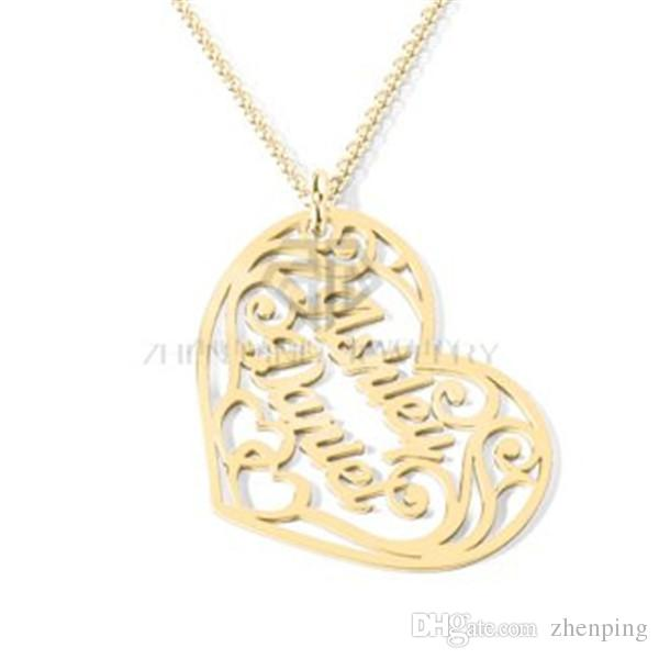 Großhandel Personalisierte Sweet Heart Shaped Name Halskette ...