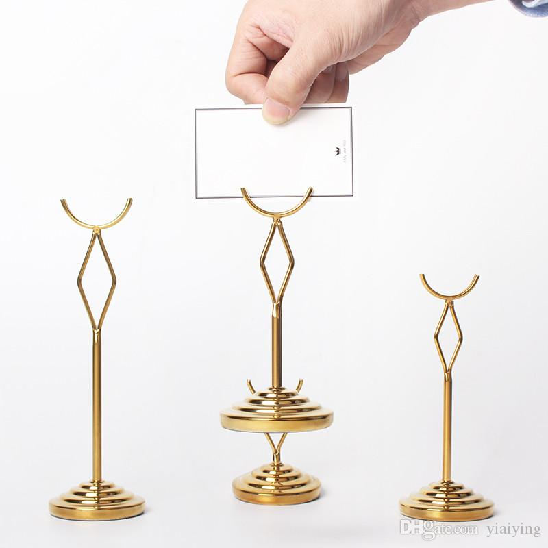 2018 Gold Stainless Steel Table Number Holders High Qualtiy ...