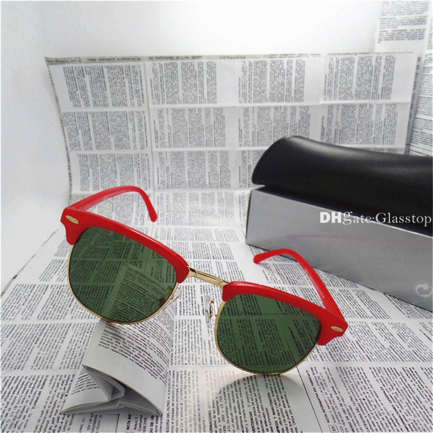 High Quality Men Women Sunglasses UV400 Mixed Vintage Sun Glasses Brand Designer Circle Semi Rimless Eyewear With Box Case