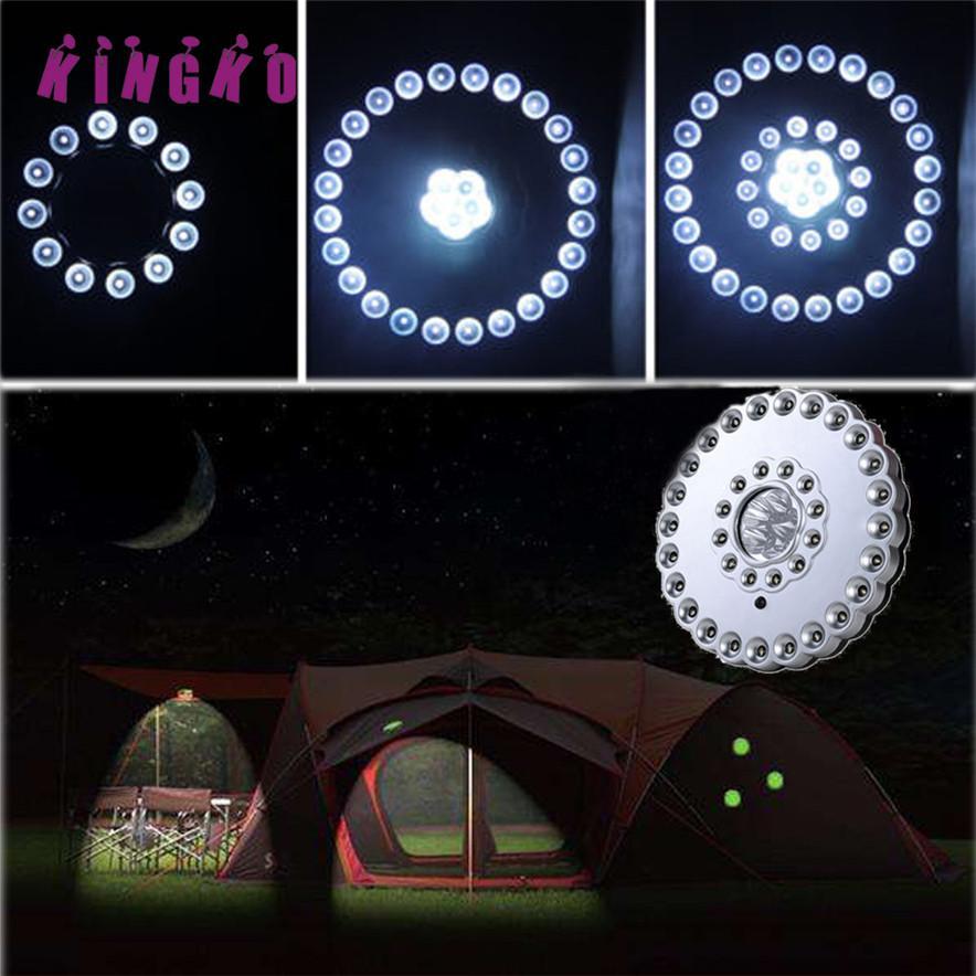 Kingko Led Outdoor Umbrella Night White Lamp Pole Light Patio Yard