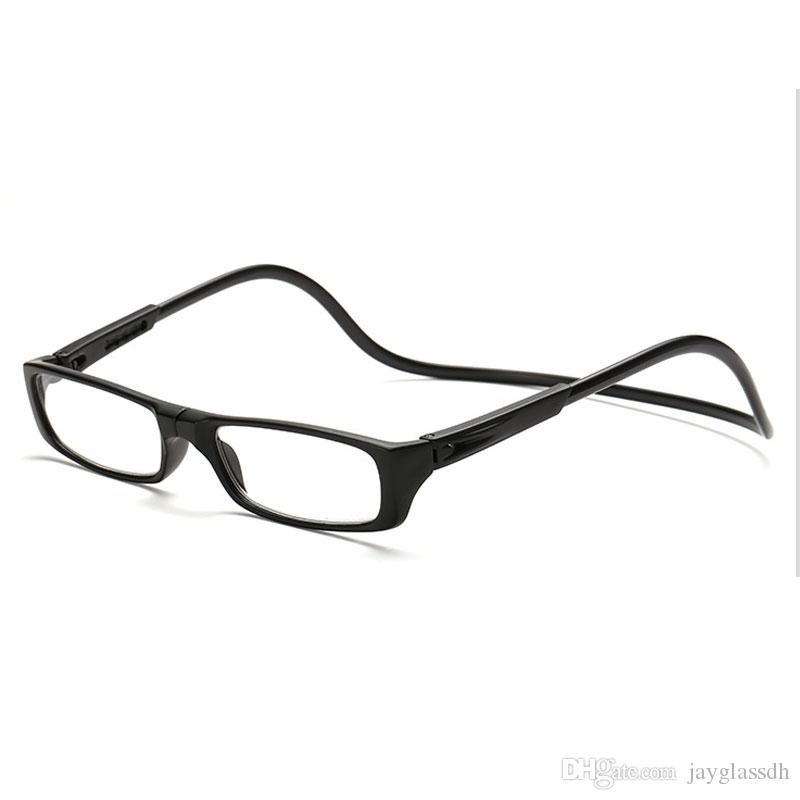 839d6e7df61 2019 Magnet Fold Reading Glasses Men And Women Adjustable Hanging Neck  Magnetic Front Rim Reading Eyeglasses Glasses Frame From Jayglassdh