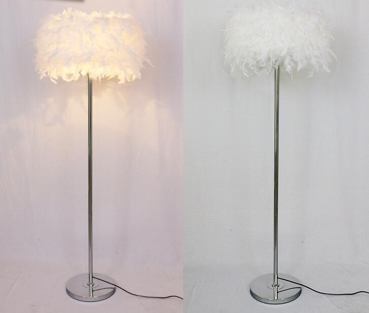 A1 feather floor lamps coffee shop bedroom living room modern multi color beautiful fashion feather shade floor lights feather floor lamp floor light floor