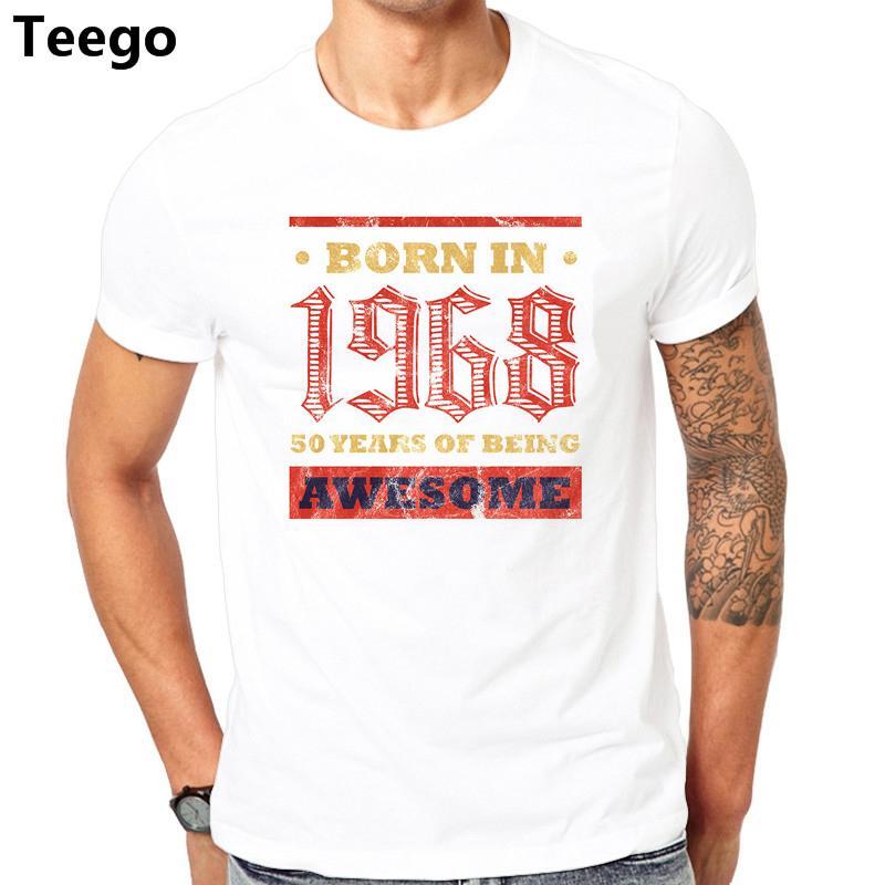 50 De Regalo En Edad Cumpleaños 2018 Años Bday Hombres Nacido Camiseta 1968 Presente EDHI2W9