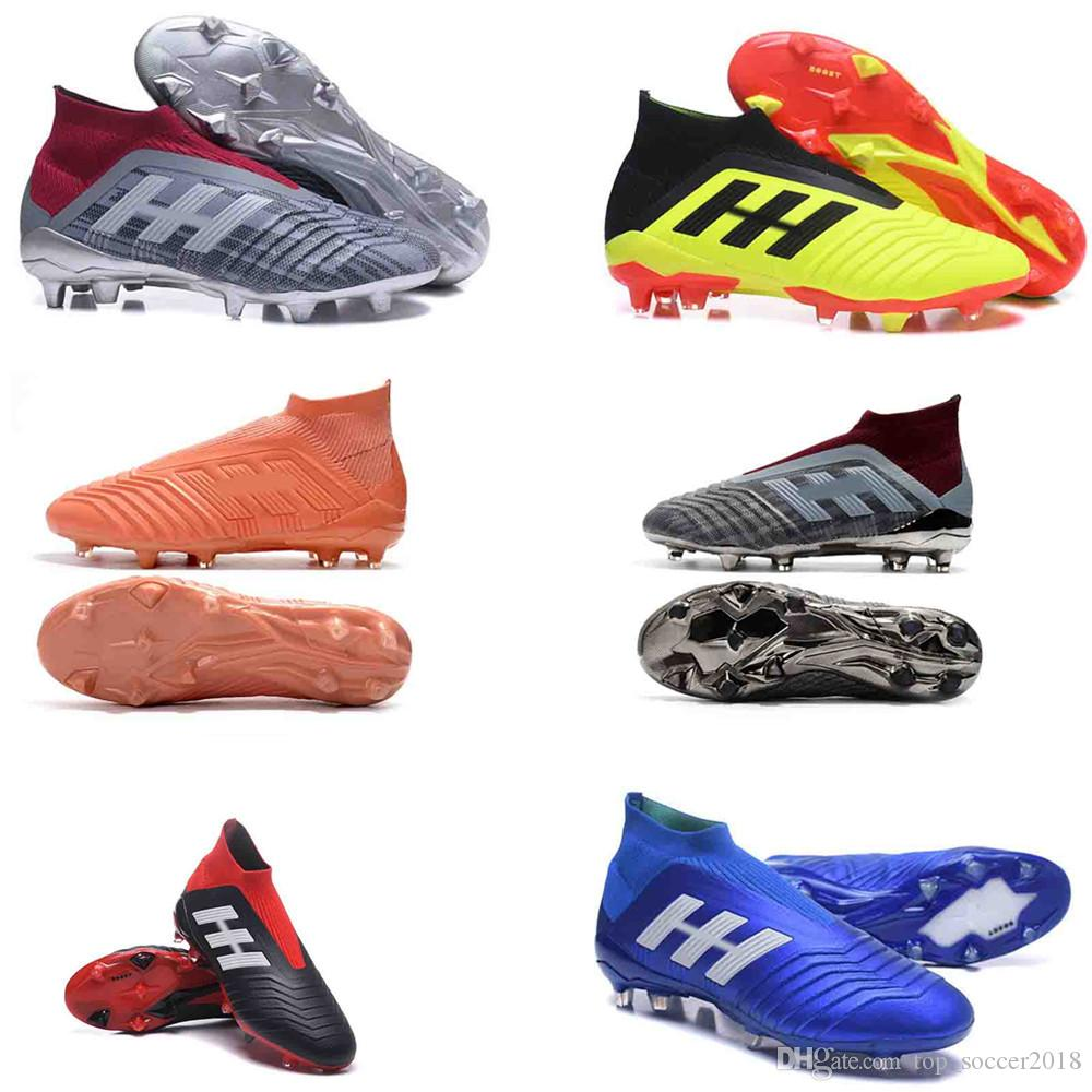 c7db558db Fast Shipping X 18+ Soccer Cleats 2018 World Cup Predator 18.1 Firm Ground  Cleats Mens Football Boots Paul Pogba Football Shoes Zapatos