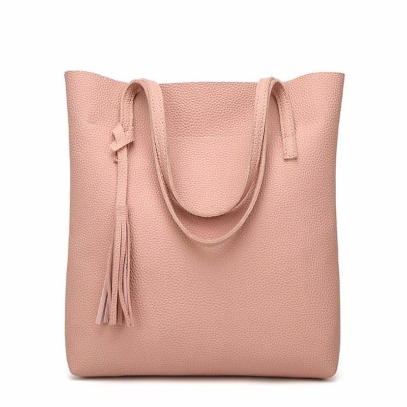 fa2bf1293a6b DHgate Luxury Brand Tassel Bucket Bag Women Soft Leather Handbag High  Quality Women Shoulder Bag Fashion women Handbags