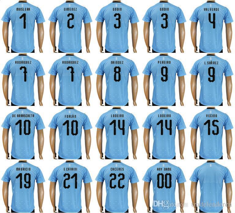 ... uruguay 3 diego godin jersey 2018 world cup 7 cristian rodriguez 9 luis  suarez football shirt c19754303