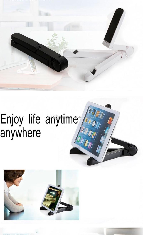 Nuovo basamento del telefono mobile Holder Ruota tavolino pieghevole Tablet PC pigro staffa di supporto Apple iPhone Samsung libera la nave