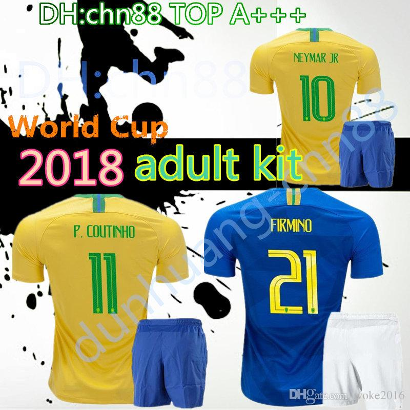2e784daeac4 ... brazil 2018 world cup thailand adult kit soccer jersey home red custom 10  neymar jr pele