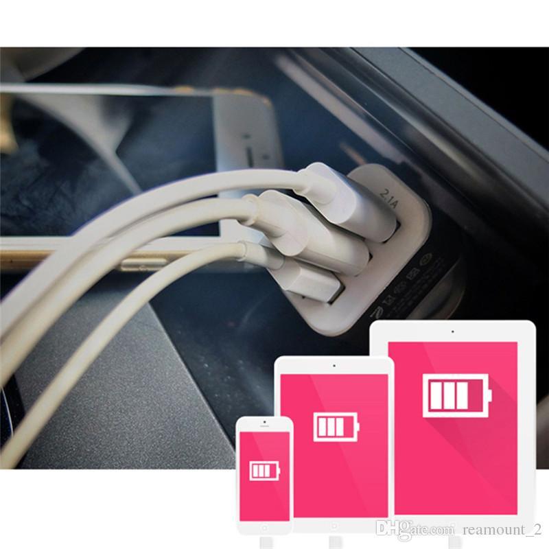 Chargeur voiture universel triple USB Adaptateur allume-cigare 3 ports 5V 2.1A 1A 1A pour chargeur iPhone 5s 6s 7