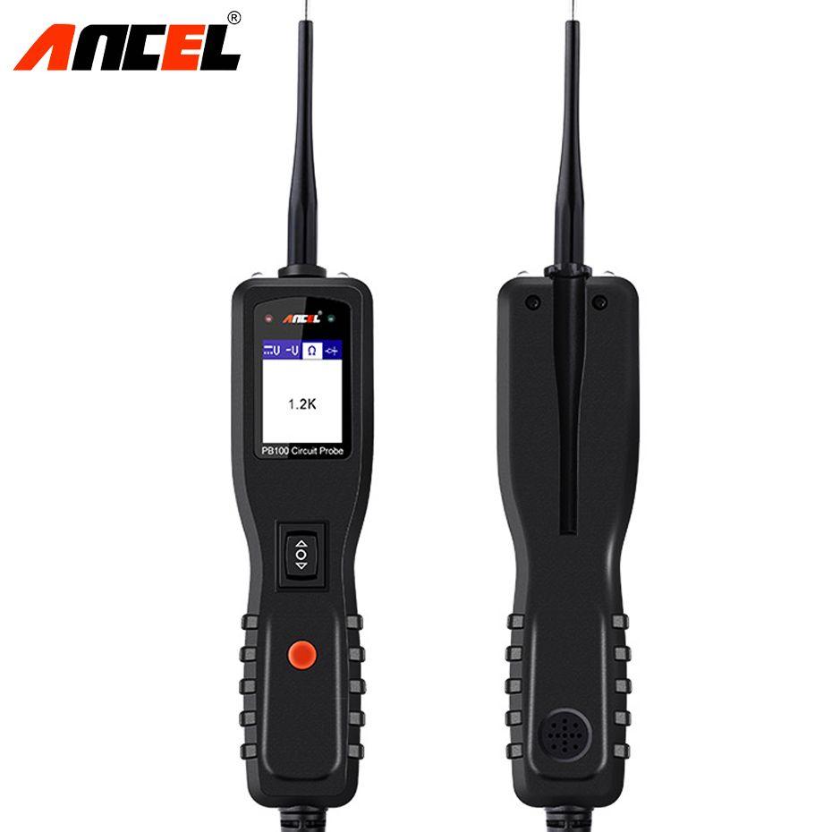 Ancel Powerscan 12v Auto Car Circuit Tester Electrical System 12 24 Volt Test Light Probe Check Circuits Trailer Diagnostic Tool Super Power Ac Dc Voltage Pb100 Electronic