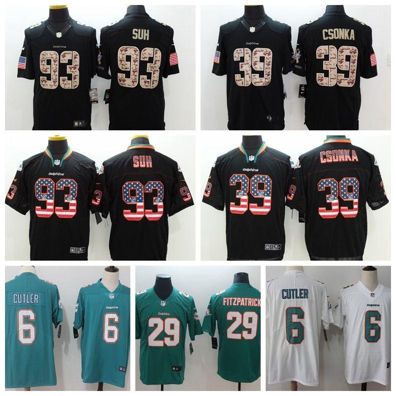 f696ca59 2019 New Mens 6 Jay Cutler Miami Jersey Dolphins Football Jersey 29 Minkah  Fitzpatrick 39 Larry Csonka 93 Akeem Spence Football Shirt