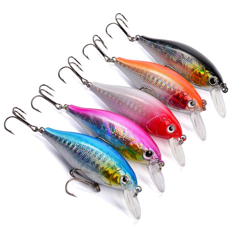 Chubby Artificial Crank Fishing Lure 13g 7cm Shallow Swimming Rainbow Painted Laser Rattlin Bait small bass Crankbaits
