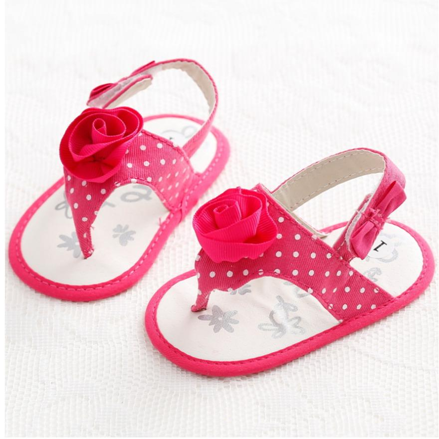 515d78b9b551 2018 Simple Cute Baby Girl Sandals Noble Princess Rose Flower Newborn Baby  Summer Cool Shoes Red Soft Sole Shoes Size 3 4 5 White Shoes For Children  Shop ...