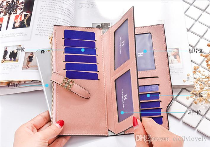 Women's Coin Purse Clutch Wristlet PU Leather Handbags Wallet Purse Card Phone Holder Makeup Bag Clutch Small Handbag