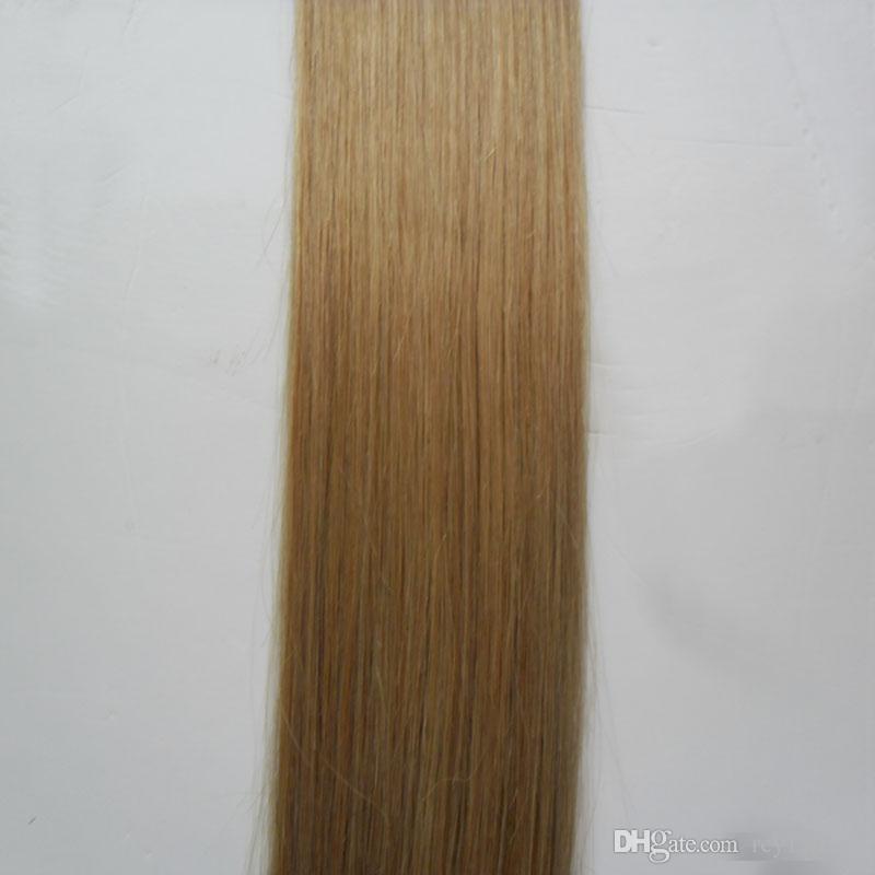 الشريط في الشعر البشري 40 قطع 27 العسل شقراء 100 جرام 10 إلى 26 بوصة غير ريمي مستقيم الشعر البرازيلي على الشريط غير مرئية بو الجلد لحمة