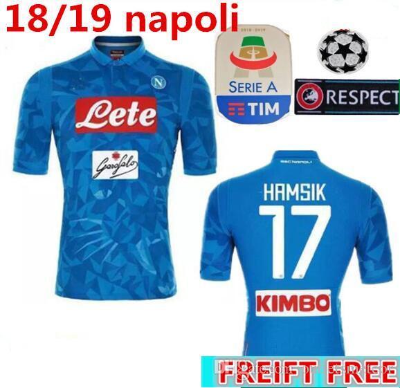 2018 19 Serie A Nápoles New Napoli Camisetas De Fútbol Napoli Home Football  Jerseys Camisa Para Hombres 18 19 HAMSIK L.INSIGNE PLAYER Camiseta Por ... dcad24ec9b776