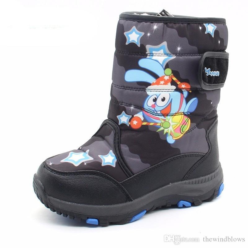 wholesale dealer 4570e 23144 Kinder Jungen Winterstiefel Warme Kinder Stiefel Schnee Rutschfeste  Winterstiefel Jungen Größe 27-32