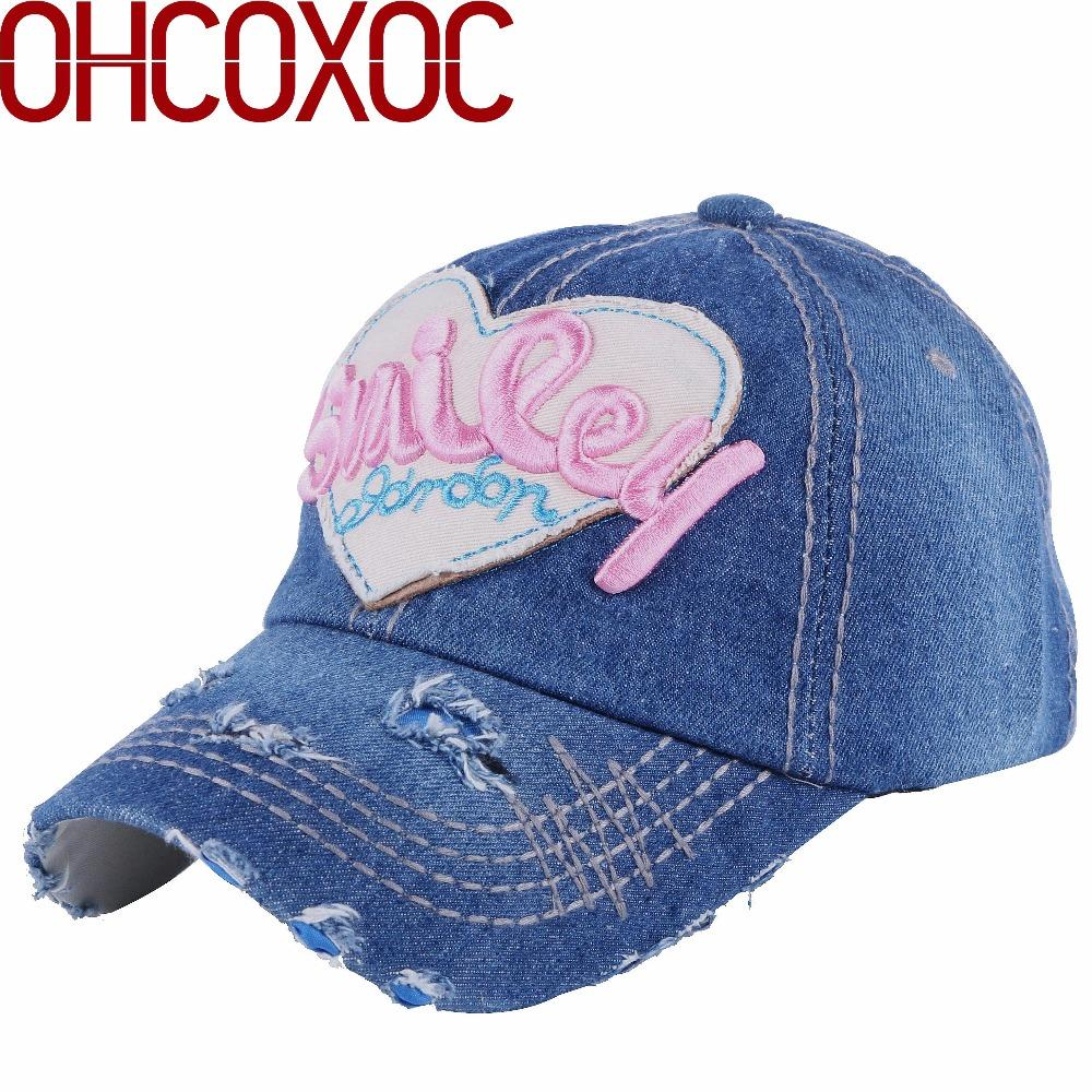 Female Women Lovely Casual Hat Cute Caps Large Heart Shaped Embroidery  Smile Letter Vintage Style Woman Girl New Baseball Cap Mesh Hats Superman  Cap From ... dac7c6c265e