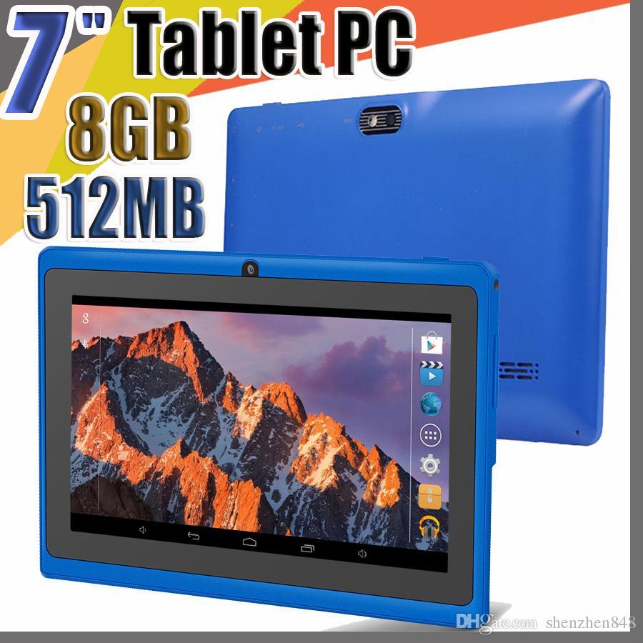 E Allwinner A33 Quad Core Q88 Tablet PC Dual Camera 7