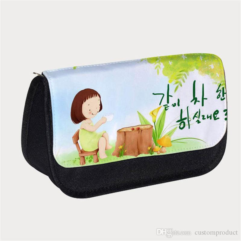 3f83b4df8fe9 Blank Canvas Pencil Bags For Sublimation Thermal Transfer Printing DIY  Personalized Customized Blank Stationery Bag Wholesales Two Colours Anime  Pencil Case ...
