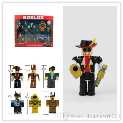 20sets DHL free shipping Roblox Figures 6PCS/Set PVC Game Roblox Toy Mini  Box Package Kids Gift Anime Figure Collectible Model Toy