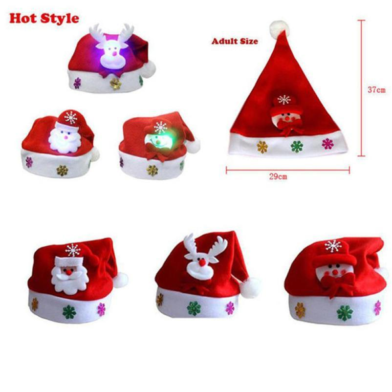 63a4c89f43d96 Kid Adult LED Cheer Christmas Hat Children Santa Claus Reindeer Snowman Xmas  Party Cute Cap Wedding Home Decoration Gift Xmas Decorations On Sale Xmas  ...