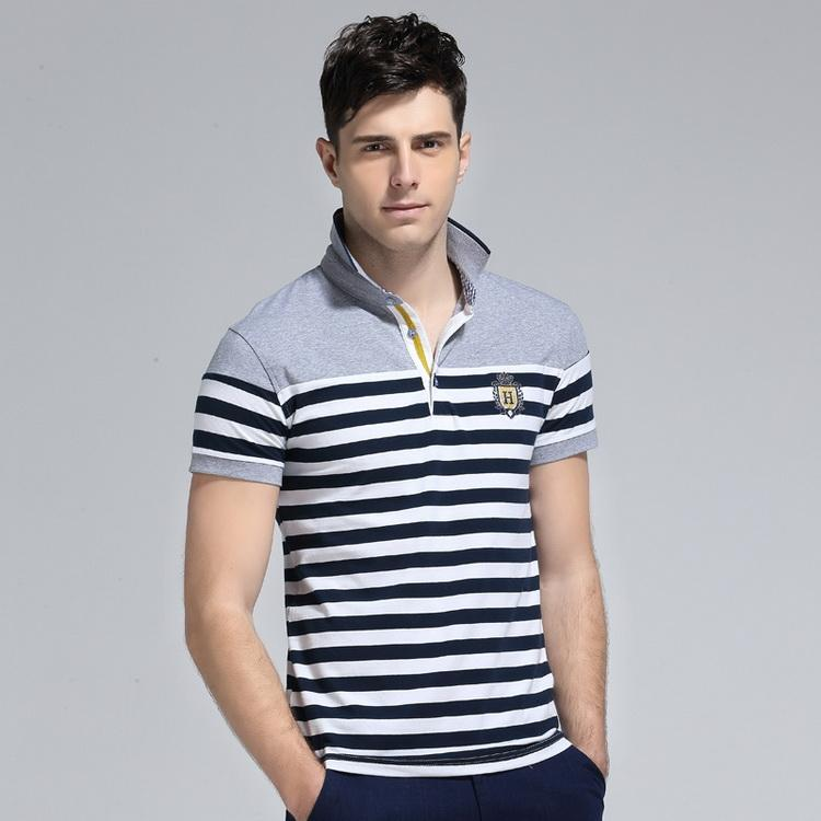 eb72ca0187edb 2019 Grandwish Stripe Polo Shirts Mens Slim Fit Short Sleeve Striped Polo  Shirts For Men Summer Turn Down Collar Homme Polos From Taigao