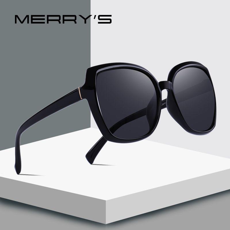 742a899cfd348 Compre MERRY S DESIGN Moda Feminina Cat Eye Óculos De Sol Da Senhora  Polarizada Condução Óculos De Sol 100% Proteção UV S 6087 De Wonderliu