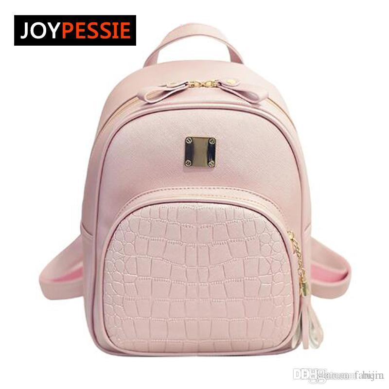 d413757e92 Wholesale- Joypessie 2016 Fashion Female PU Backpacks Casual Leather ...