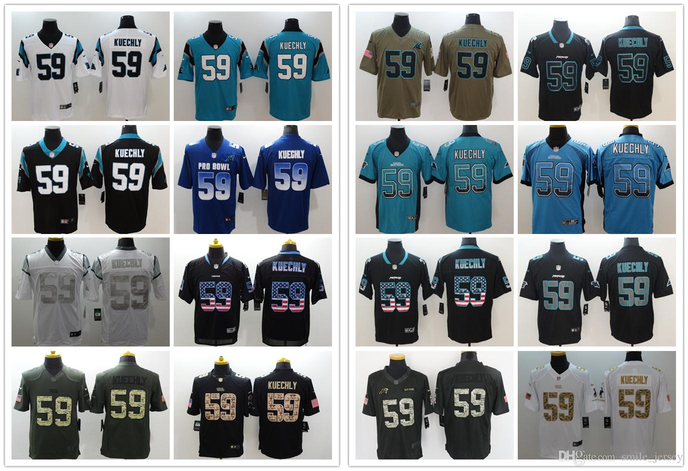New Mens 59 Luke Kuechly Carolina Jersey Panthers Football Jerseys ... 5c7c2c763