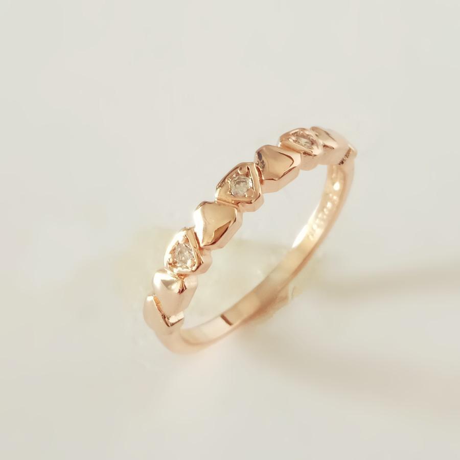 Grosshandel Anniebell 2018 Neue Mode 585 Rose Gold Frauen Ringe