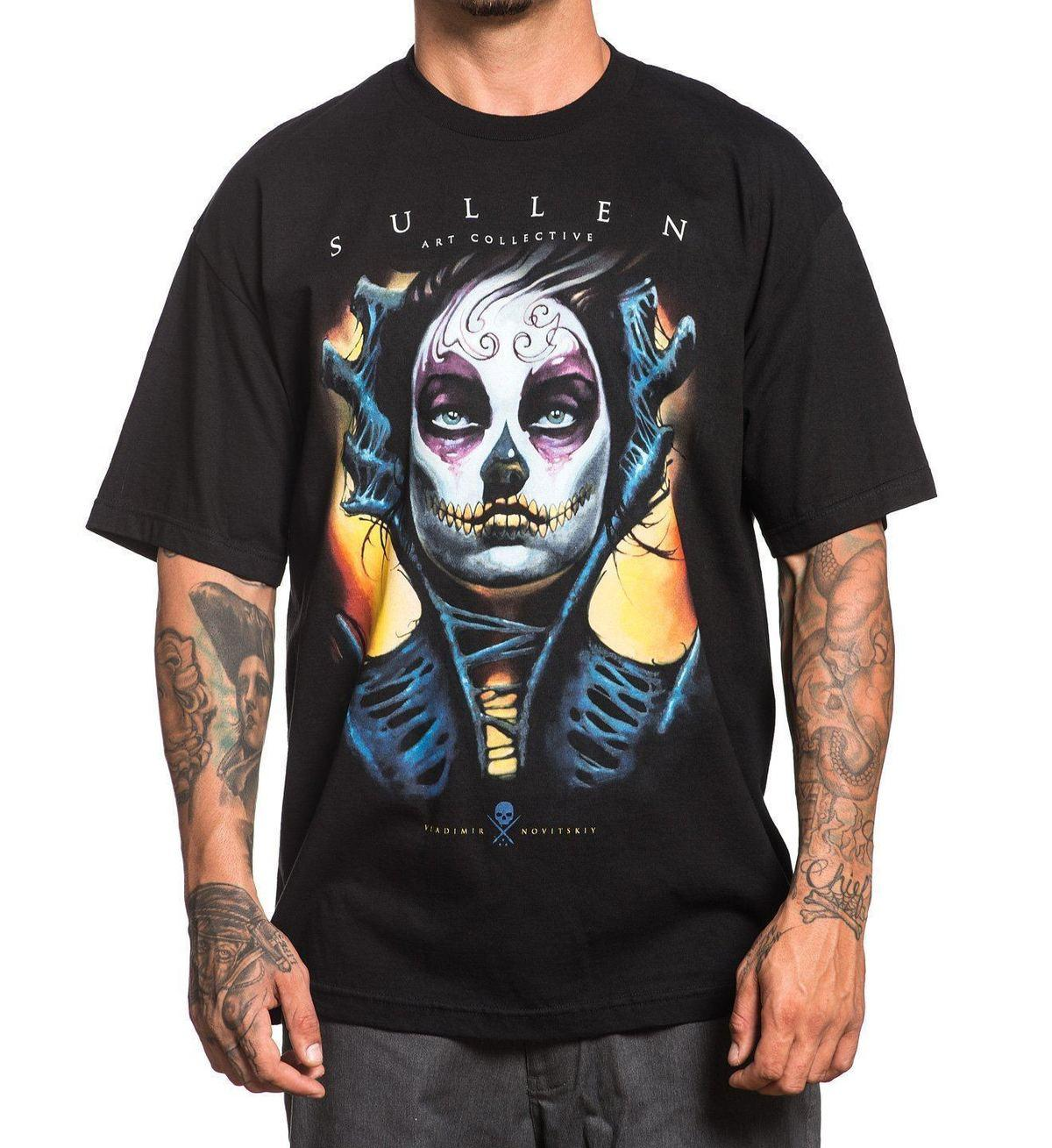6b0c6e24345 SULLEN CLOTHING Eyes Tattoo Art T Shirt Black 2018 New Fashion Men S T  Shirts Short Sleeve Simple Style Humorous T Shirt Cool And Funny T Shirts  From ...