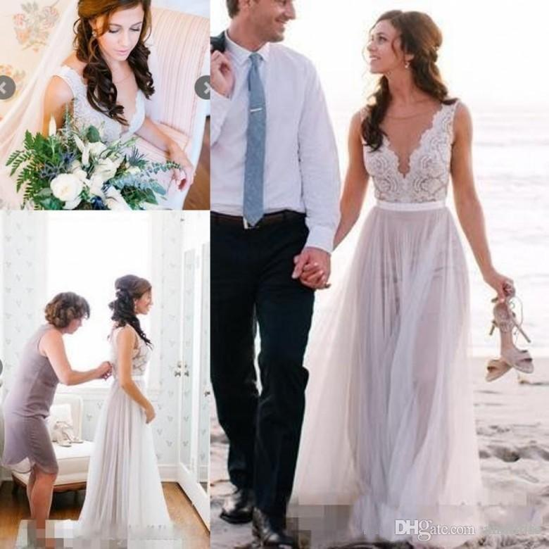 8e8ee900f720 Discount Gold Beaded High Low Beach Wedding Dresses 2017 New Design White  Country Style Bridal Gowns Cheap Wedding Reception Dress Black Wedding  Dresses ...