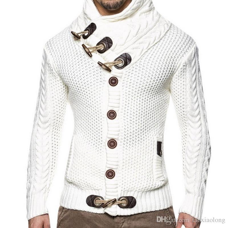 Compre NIBESSER Para Hombre 2018 Elegante Suéter Chaqueta De Punto ...