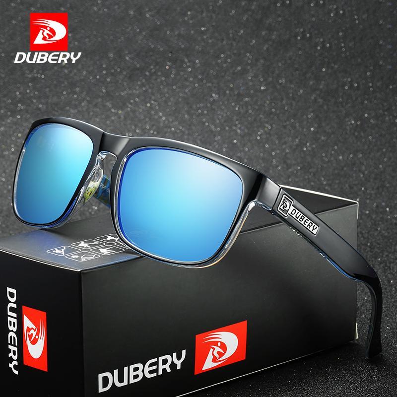 ef13c358e71ee Compre DUBERY Polarized Óculos De Sol Dos Homens Do Vintage Masculino  Colorido Óculos De Sol Para Homens Marca De Moda De Luxo Espelho Shades  Oculos De ...