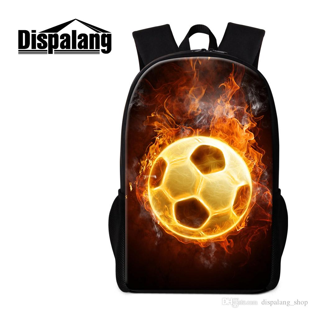 Soccer Backpack For Boys Day Pack Personalized Rucksack Primary Students  School Bag Football Printing Bookbag For Children Cool Mochilas Camping  Backpack ... dd92b615cebe8