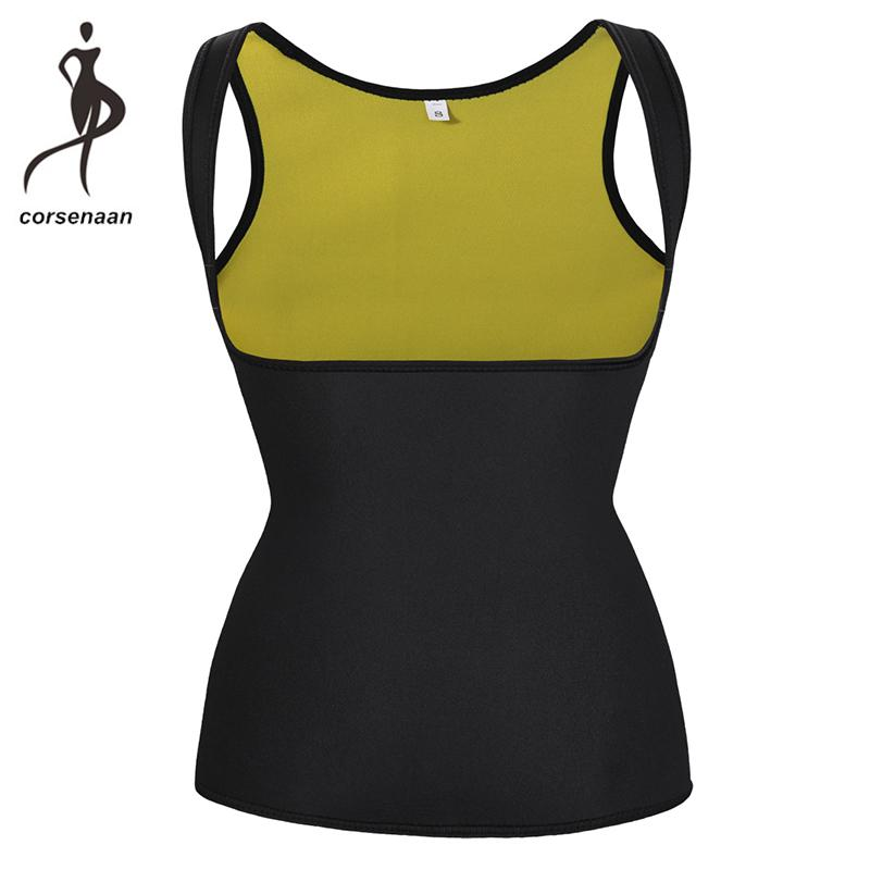 87521ab69c 2019 Hot Neoprene Waist Trainer Corset Vest Sweat Cincher Tank Top Body  Shaper Sauna Shirt For Workout Training Weight Loss 606  From Eggplant18