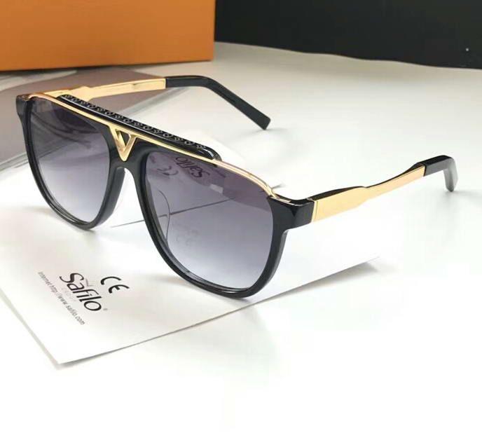 Mascotte Sonnenbrille Dégradés Or Lunettes De Noir Designer Hommes Soleil Luxe Verres Pour Pilote Gris Z0nwkXN8OP
