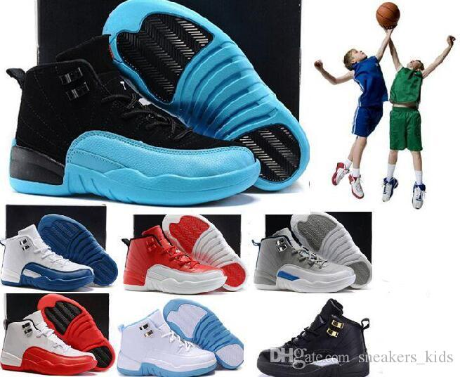 e9e0b49961db Online Sale 2018 Cheap New 12 Kids Basketball Shoes For Boys Girls Sneakers  Children Babys 12s Running Shoe Size 11C 3Y Sport Shoes For Children Cheap  Kids ...