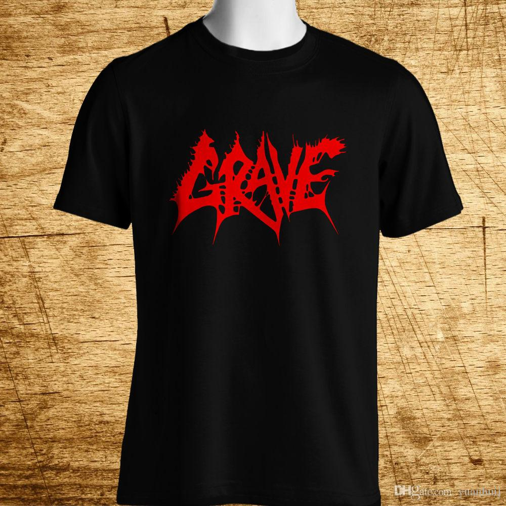 8dc60a00e7cb New GRAVE Swedish Death Metal Band Logo Men's Black T-Shirt Size S-5XL