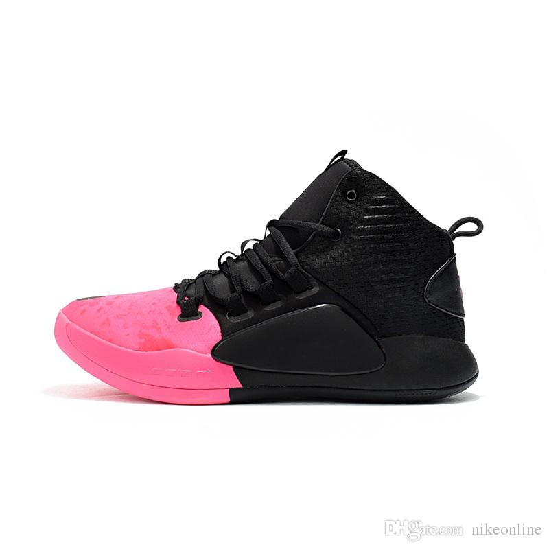 timeless design 0da29 cc7b3 Cheap Mens New Hyperdunk X 2018 basketball shoes Kay Yow Aunt Pearl Think  Pink Air Cushion sneakers Trainer shoe with original box for sale