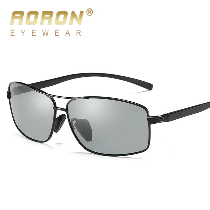 57c81a5b4ad AORON Photochromic Sunglasses Men Polarized Discoloration Goggles Male Anti  Glare HD Driving Glasses 2017 Brand Designer Eyewear Oversized Sunglasses  Best ...