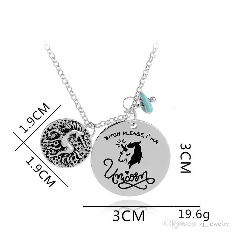 'Bitch Please I'm A Horse' 2018 Novelty Pendant Neckalce Gift For Him or Her Magical Horse Statement Necklace Animal Jewelry