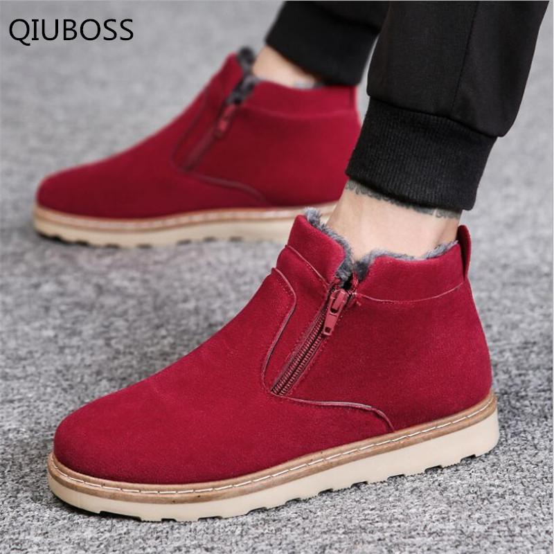 d9454e4b1579 QIUBOSS 2018 Fashion On The Winter Warm Men S Boots Men S Casual Shoes For  Non Slip Breathable Running Shoes Men Ankle Boots 597 Office Shoes High  Heels ...