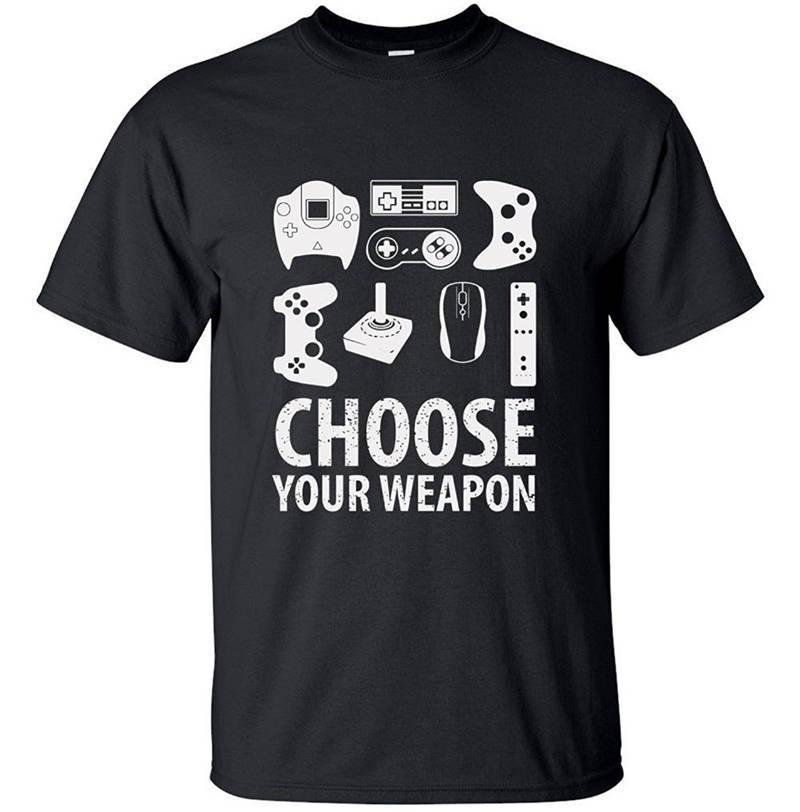 T Shirt Design Printer   T Shirt Design Printer Short Choose Your Weapon Gamer Crew Neck