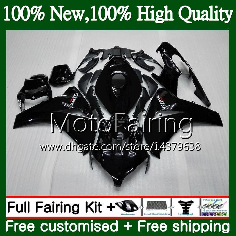 HONDA CBR1000 RR 08 11 CBR1000RR için enjeksiyon 08 09 10 11 42MT1 CBR 1000 RR CBR 1000RR 2008 2009 2010 2011 Fairing Karoser Parlak siyah